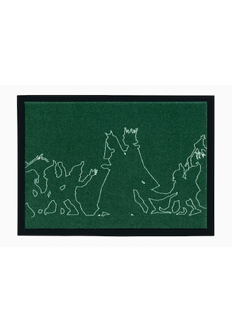 grimmliis Fußmatte »Märchen 3«, rechteckig, 2 mm Höhe, Fussabstreifer, Fussabtreter, Schmutzfangläufer, Schmutzfangmatte, Schmutzfangteppich, Schmutzmatte, Türmatte, Türvorleger, Motiv Schneewittchen, waschbar kaufen