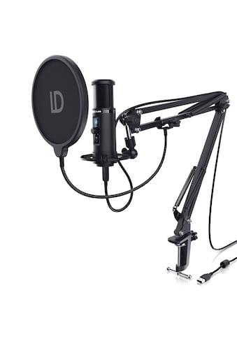 LIAM&DAAN USB Podcast Mikrofon Set mit Mikrofonarm, Spinne & Popschutz kaufen