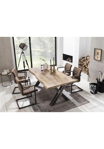 SIT Esstisch »Tops&Tables«, mit Platte aus Mangoholz, Shabby Chic, Vintage kaufen