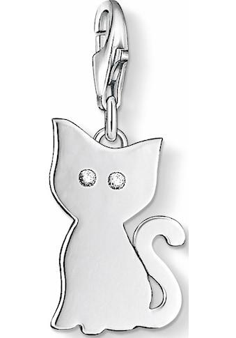 THOMAS SABO Charm-Einhänger »Katze, 1014-051-14«, mit Zirkonia kaufen