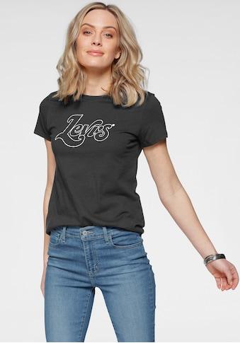 Levi's® Rundhalsshirt, mit großem Markenschriftzug auf der Vorderseite kaufen