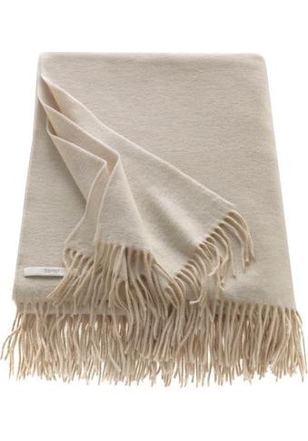 Esprit Wohndecke »Melange«, in Melangeoptik und mit Fransen kaufen