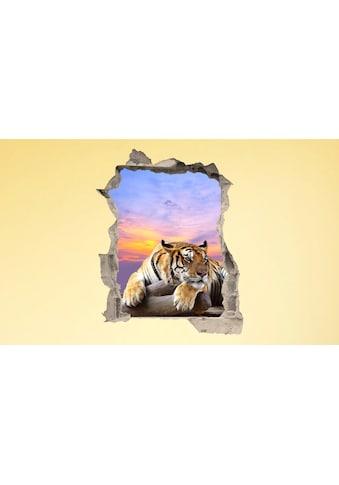 Conni Oberkircher´s Wandsticker »3 D Sticker Beton Tiger Resting« kaufen