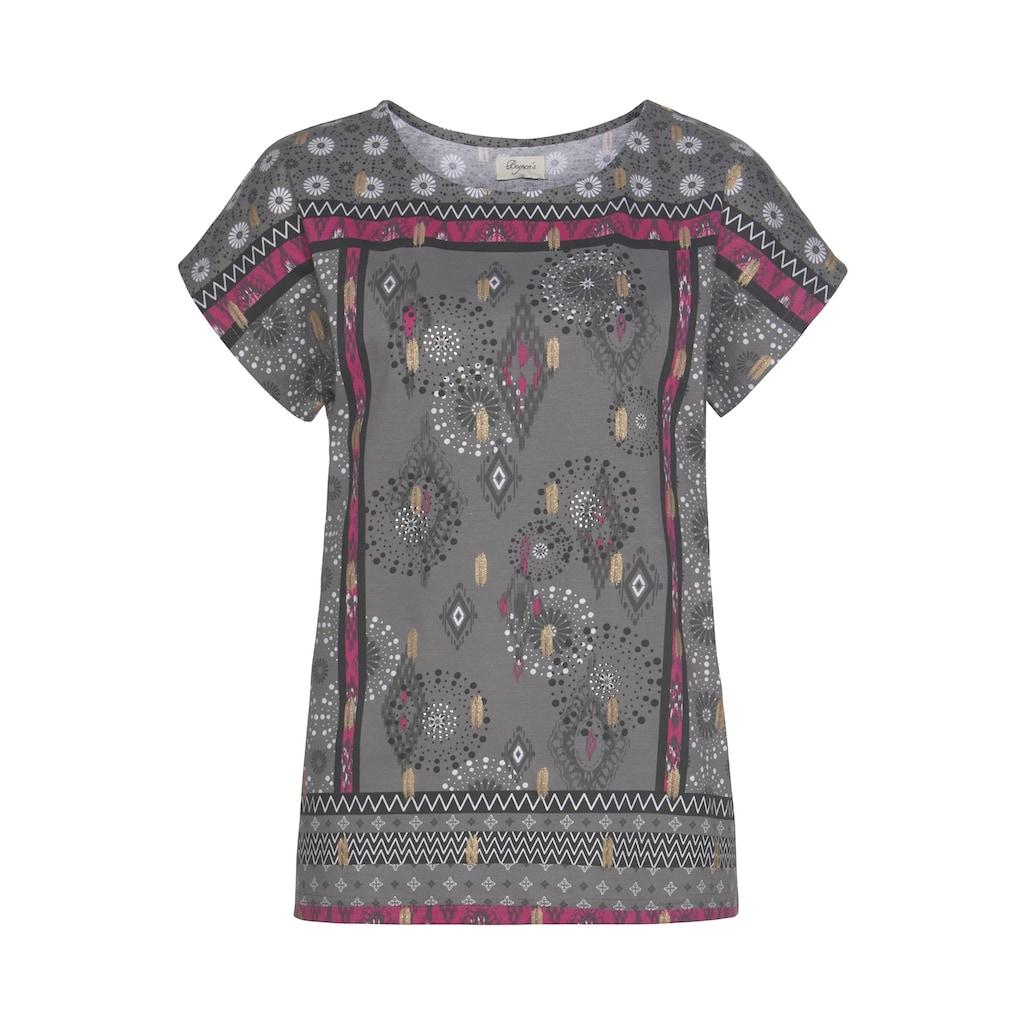 Boysen's Print-Shirt, mit Ethnodruck