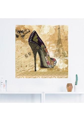 Artland Wandbild »Veränderliche Zeiten IV - Stiletto«, Modebilder, (1 St.), in vielen... kaufen