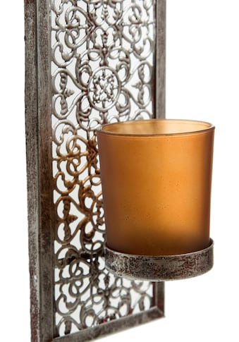 Home affaire Wandkerzenhalter »Rana«, Kerzen-Wandleuchter, Kerzenhalter, Kerzenleuchter hängend, Wanddeko, aus Metall kaufen