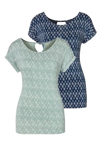 LASCANA T-Shirt, mit kleinen Ärmelaufschlägen kaufen
