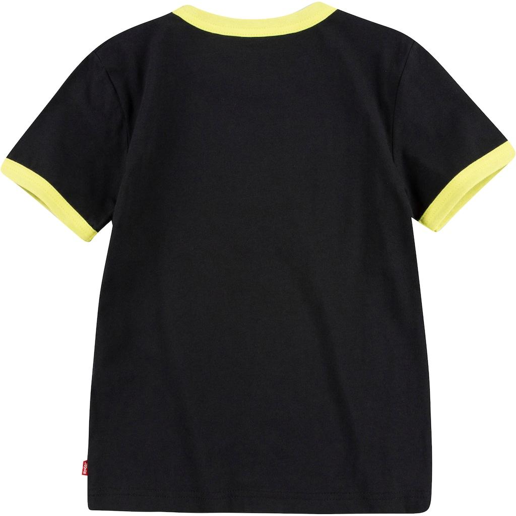 Levi's Kidswear T-Shirt »mit geringelten Bündchen«