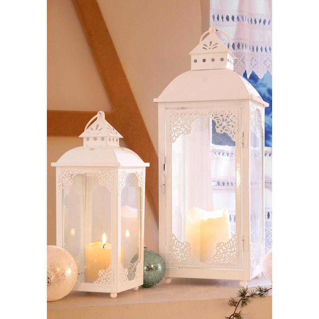 Home affaire Laterne, mit filigranen Ornamenten