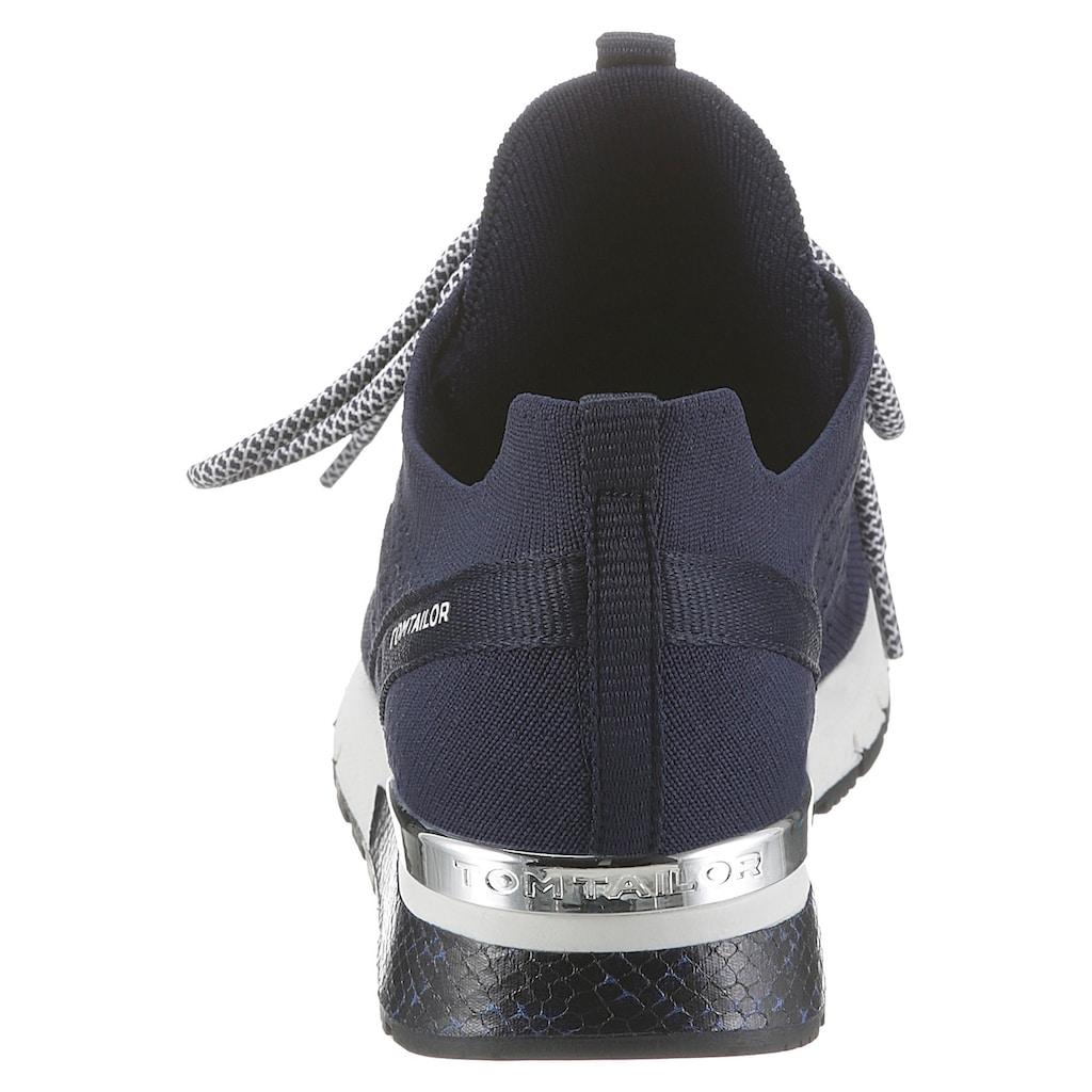 TOM TAILOR Keilsneaker, mit Logoschriftzügen