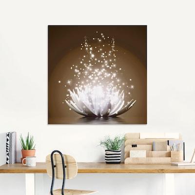 LED-Bild mit Lotusblumen-Motiv