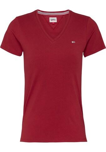 TOMMY JEANS V - Shirt »TJW SLIM JERSEY VN SHORTSLEEVE« kaufen