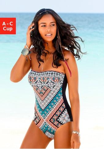 LASCANA Badeanzug »Marrakesh«, mit angesagtem Print kaufen