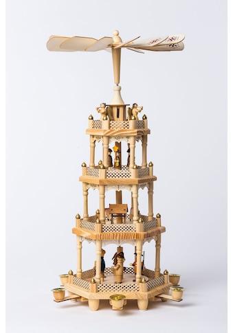 HGD Holz - Glas - Design Pyramide für 6 Pyramidenkerzen Waldweihnacht kaufen