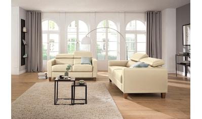 Home affaire Sitzgruppe »Luzern«, mit verstellbarer Kopfstütze und Holzfüßen kaufen