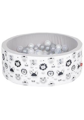 Knorrtoys® Bällebad »Soft, Animals«, mit 150 Bällen grau/weiß/transparent; Made in Europe kaufen
