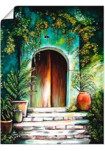 Artland Wandbild »Mediterranes Gartenparadies« kaufen