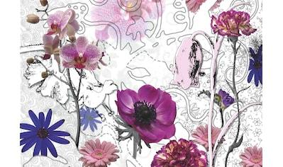 Komar Fototapete »Purple«, bedruckt-Wald-geblümt, ausgezeichnet lichtbeständig kaufen