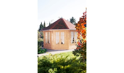 Wolff Holzpavillon »Roma 4.0«, BxT: 480x480 cm, mit Dachschindeln und Fußboden kaufen