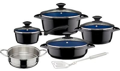 GSW Topf-Set »Ceramica kobatblau«, Aluminiumguss, (Set, 10 tlg.), Induktion kaufen