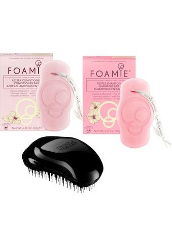 "TANGLE TEEZER Haarbürsten - Set ""Tangle Teezer OR Black + Foamie festes Shampoo + Foamie fester Coditioner"", 3 - tlg. kaufen"