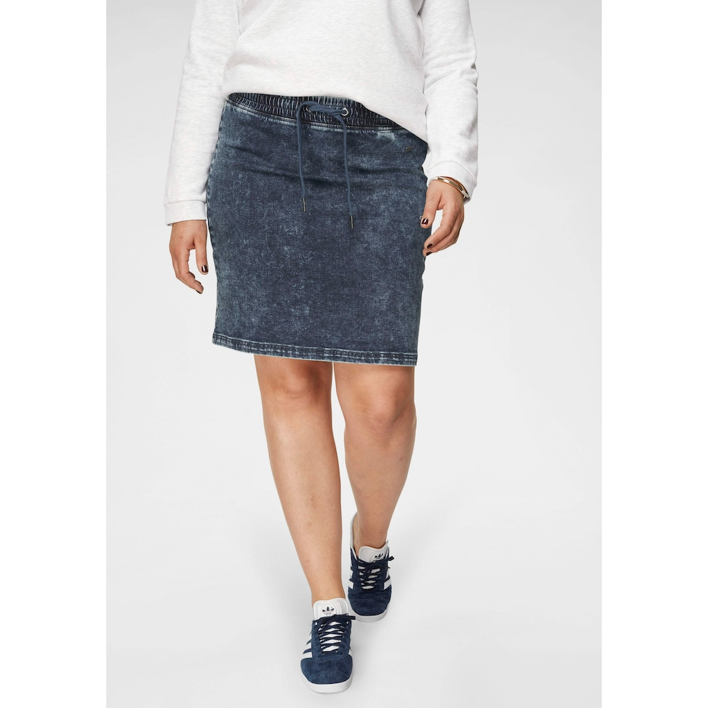 Arizona Jeansrock »Jogg-Style«, in Moonwashed-Optik