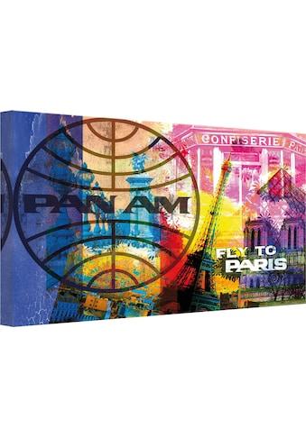 Wall-Art Leinwandbild »PAN AM - Paris« kaufen