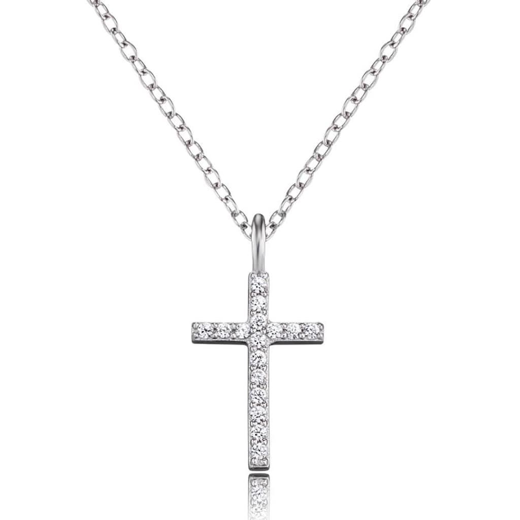 Engelsrufer Kreuzkette »Glaubensfeste, ENGELSRUFER KREUZ, ERN-LILCROSS-ZI«, mit Zirkonia