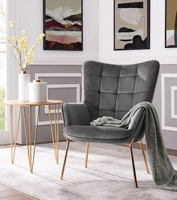 trendiger Loungesessel in Grau