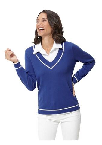 Casual Looks  Pullover mit weißem Bluseneinsatz kaufen