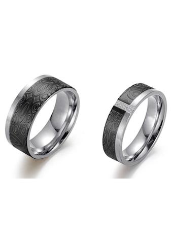 Firetti Trauring »6,0 mm, 8,0 mm, bicolor, teilweise IP-beschichtet, schwarz,... kaufen