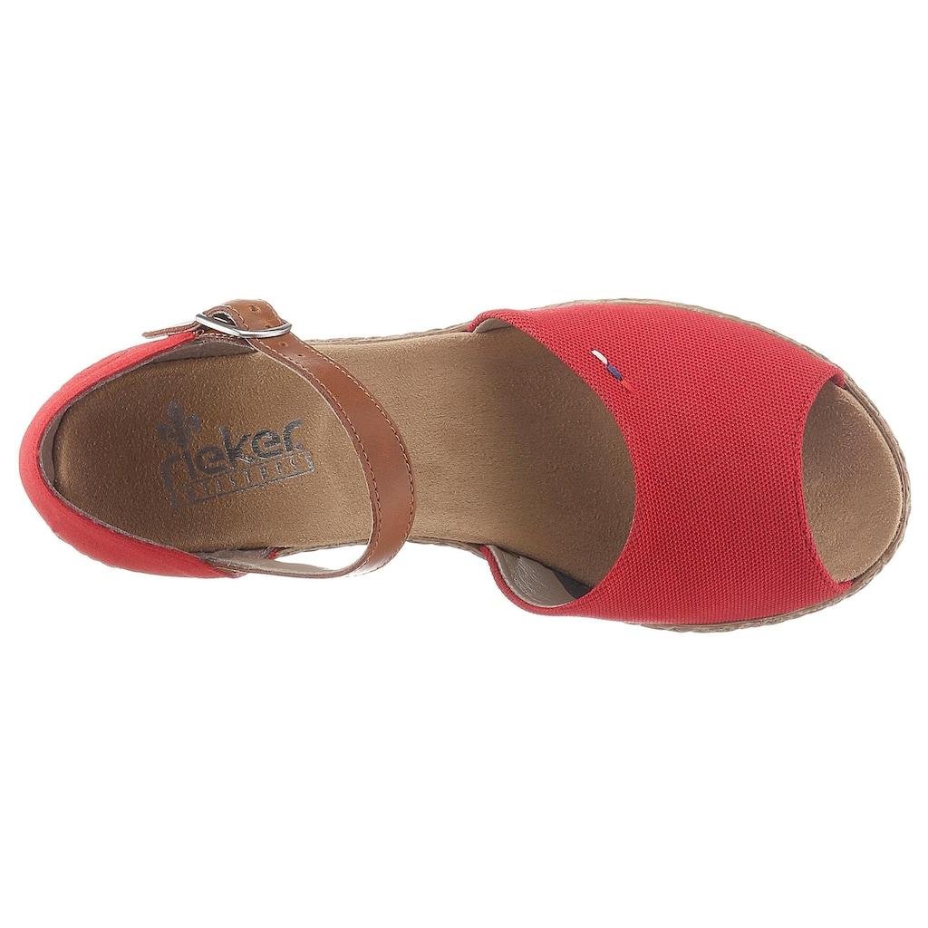 Rieker Sandalette, mit Druckknopf-Riemchen