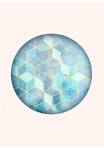 Komar Poster »Mosaik Circle Azzuro«, Formen-Kunst, Höhe: 50cm kaufen