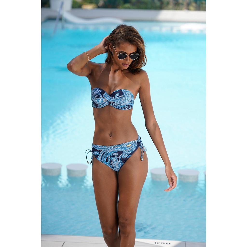 LASCANA Bikini-Hose »Boho«, seitlich regulierbar
