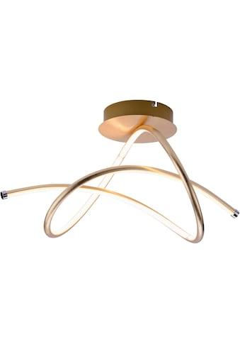 Leuchten Direkt LED Deckenleuchte »VIOLETTA«, LED-Board, Warmweiß, inklusive festverbaute LED, geschwungene aus Stahl gefertigte Deckenlampe kaufen