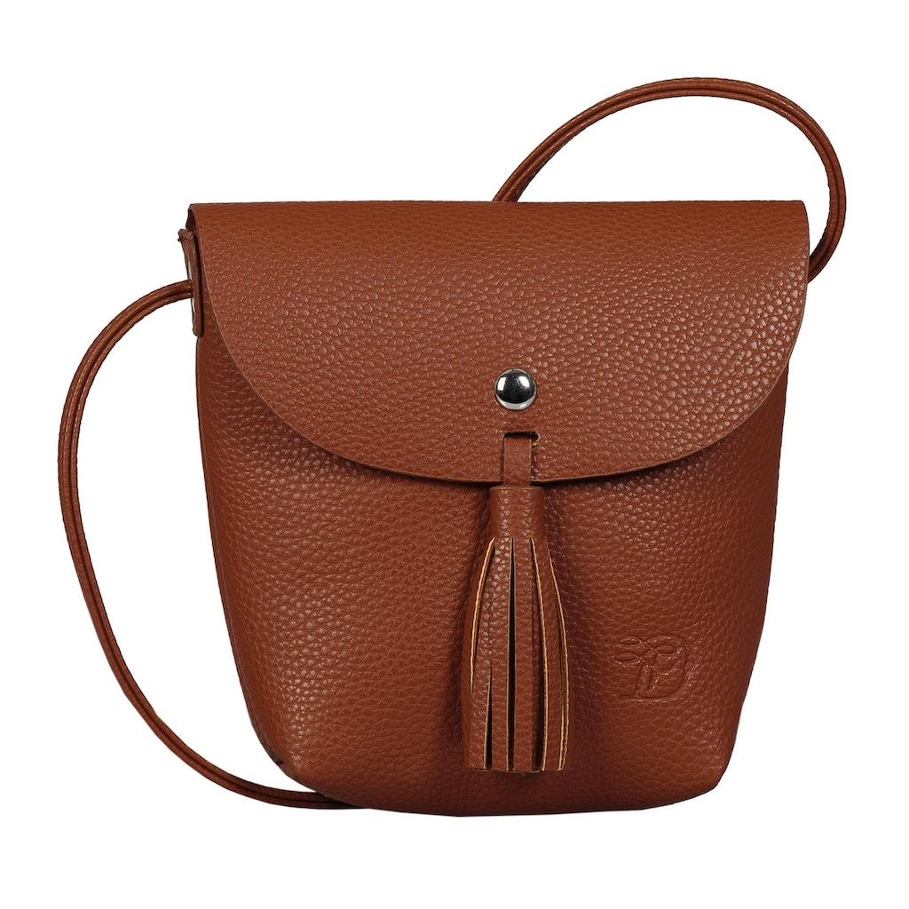 TOM TAILOR Denim Mini Bag »Ida«, mit Fransenapplikation