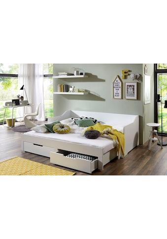 Relita Funktionsbett »Anna«, mit ausziehbarer Liegefläche und 2 Schubkästen, wahlweise mit Matratze kaufen