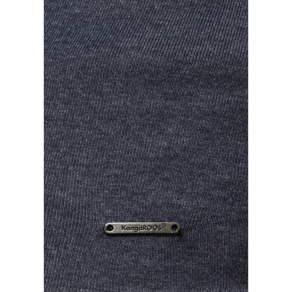 KangaROOS Longsleeve, mit Metallic-Print vorne