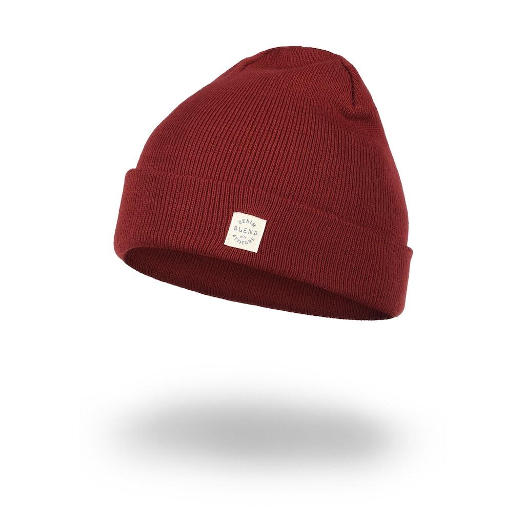 Blend Strickmütze »Scam«, Mütze mit Logobadge