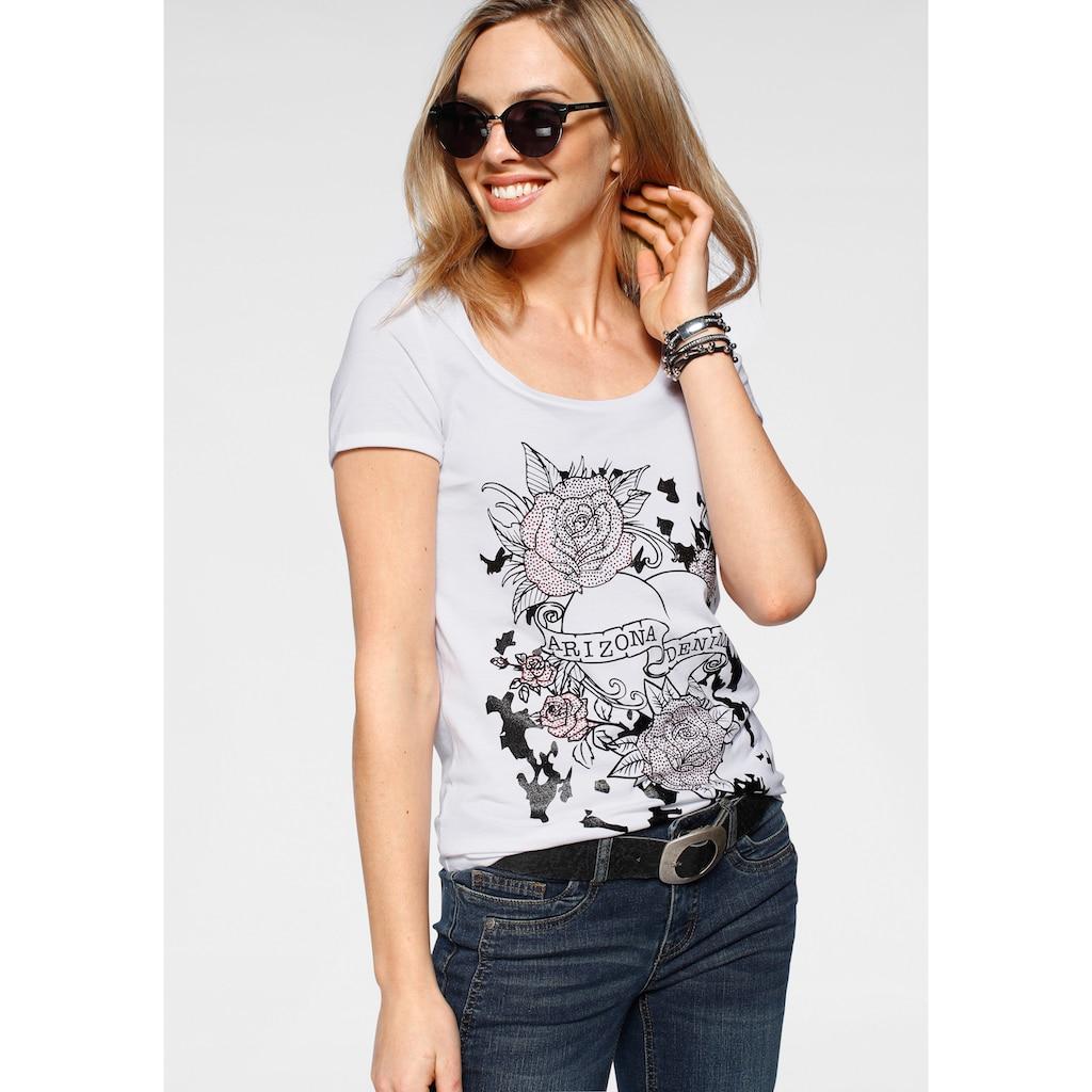 Arizona T-Shirt, mit Glitzerprint und Strass-Steinchen