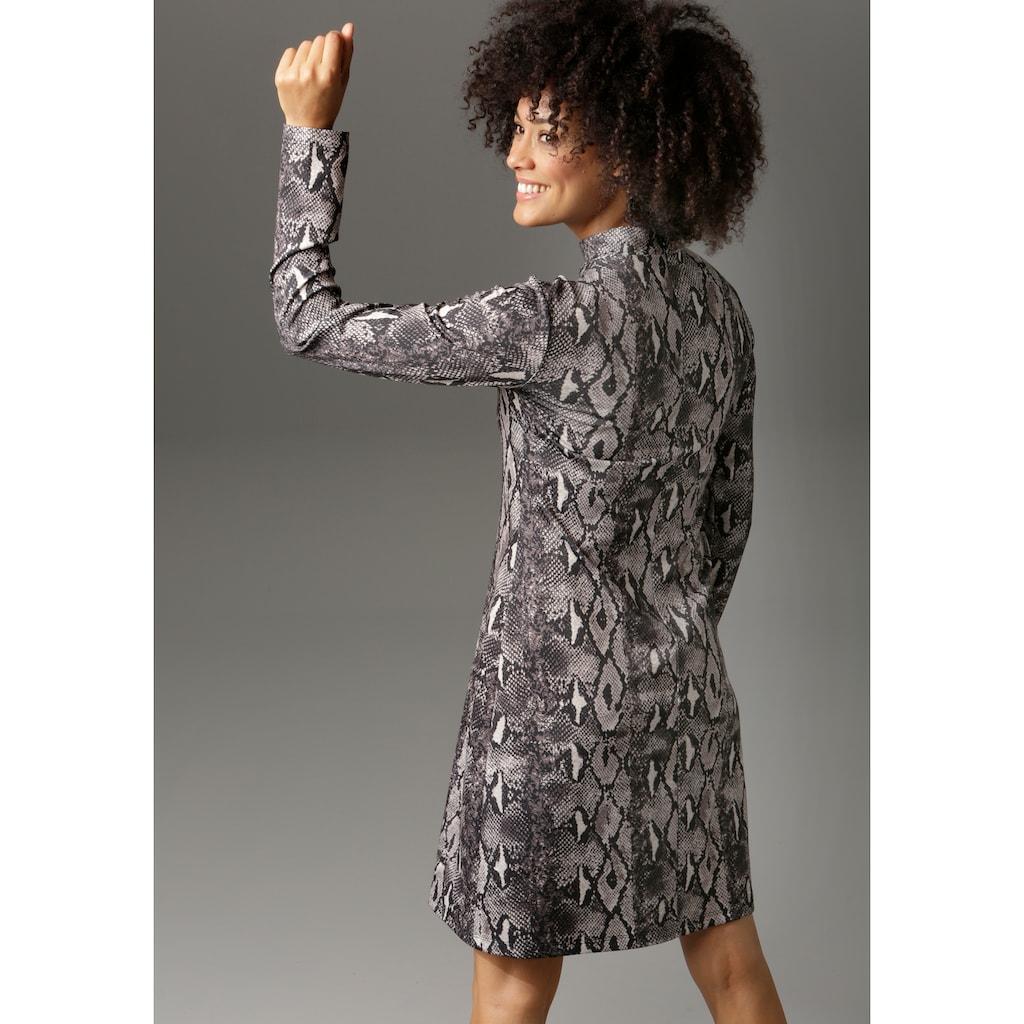 Aniston CASUAL Jerseykleid, in trendiger Schlangen-Optik