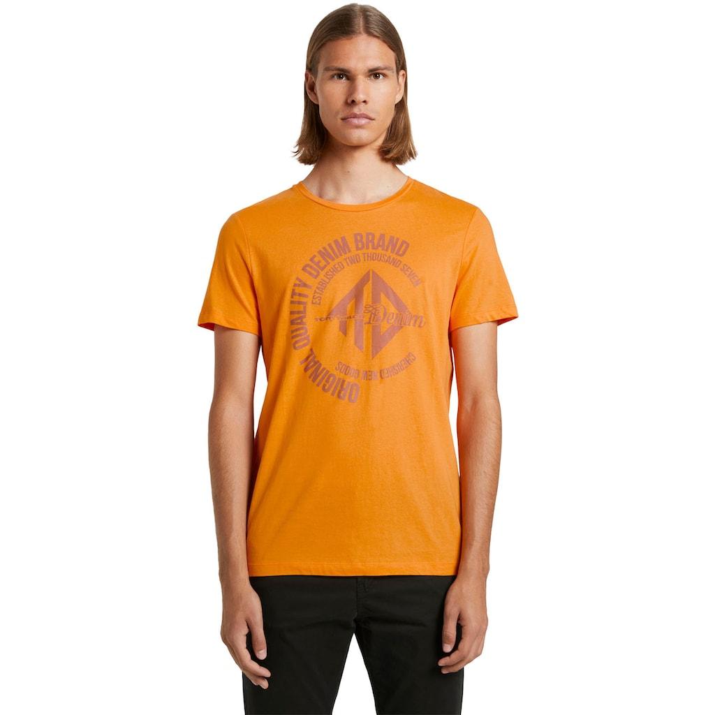 TOM TAILOR Denim T-Shirt, mit Logo-Frontprint