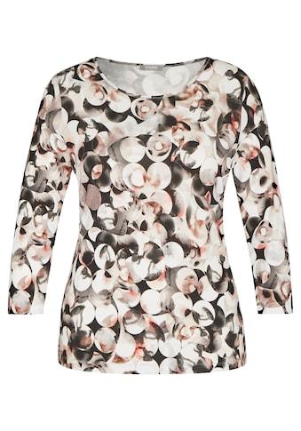Rabe Rundhalsshirt, mit gepunktetem Allover-Muster und Glitzergarn kaufen