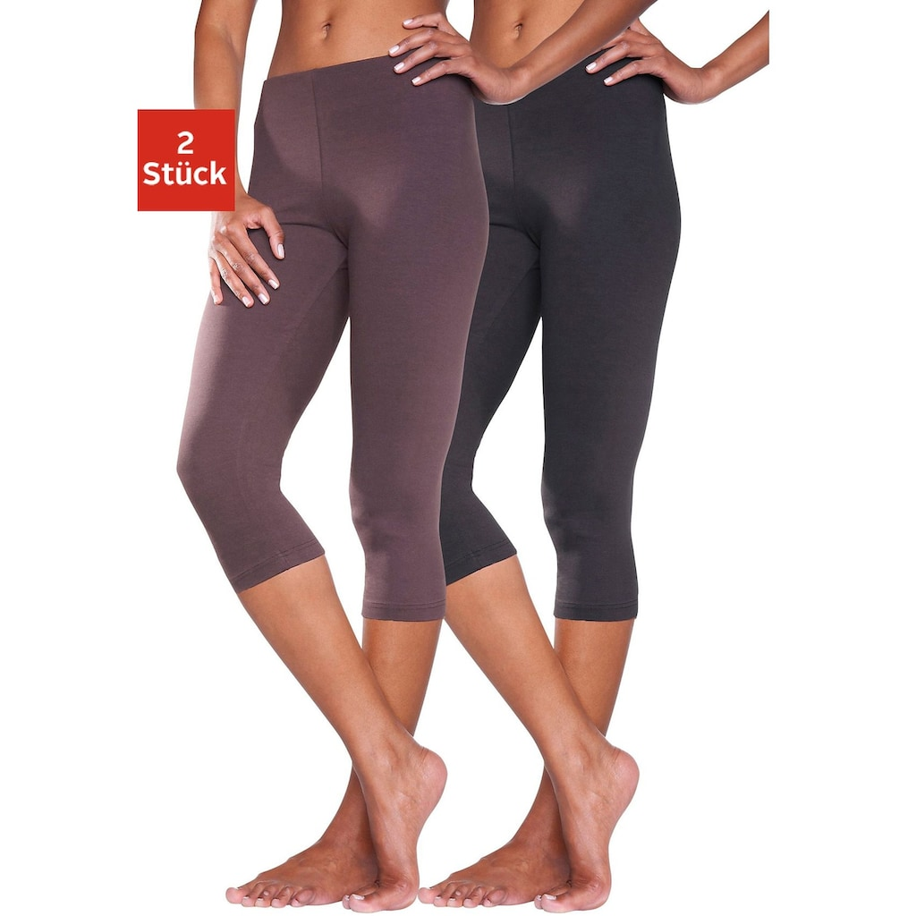 vivance active Caprileggings, (2er-Pack), mit Gummibund