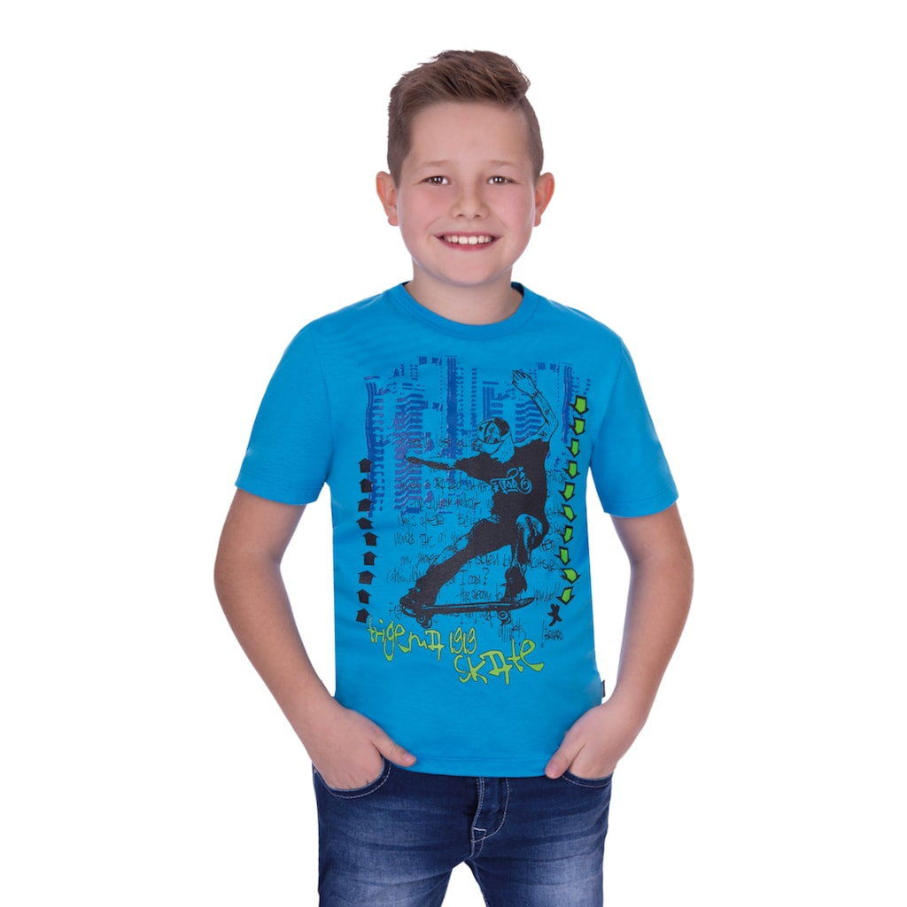 Trigema T-Shirt, mit coolem Aufdruck