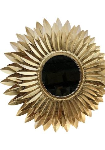 Home affaire Dekospiegel »Blumen gold« kaufen