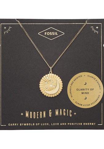 Fossil Kette mit Anhänger »Halbmond und Sterne, VINTAGE MOTIFS, JF03242710« kaufen