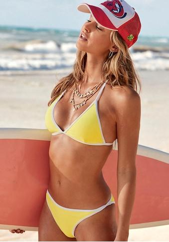 Venice Beach Triangel-Bikini-Top »L.A.«, mit Kontrastpiping kaufen