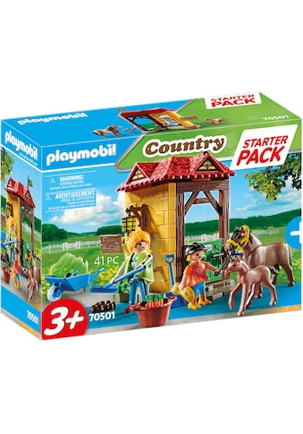 Playmobil® Konstruktions-Spielset »Starter Pack Reiterhof (70501), Country«, Made in Germany kaufen