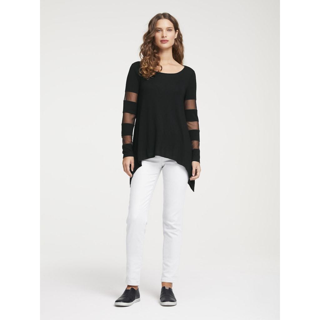 Shirt mit eingesetzten Ärmel
